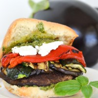 GF-Grilled Vegetable Sandwich with Vegan, Pesto Mayonnaise