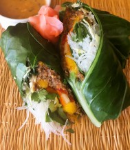 Collard Wrapped Spring Rolls